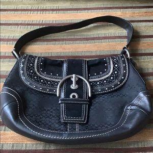 coach ashley leather satchel